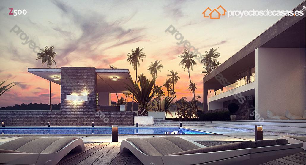 Ficha y planos de casa sotogrande estilo de dise o - Arquitecto sotogrande ...
