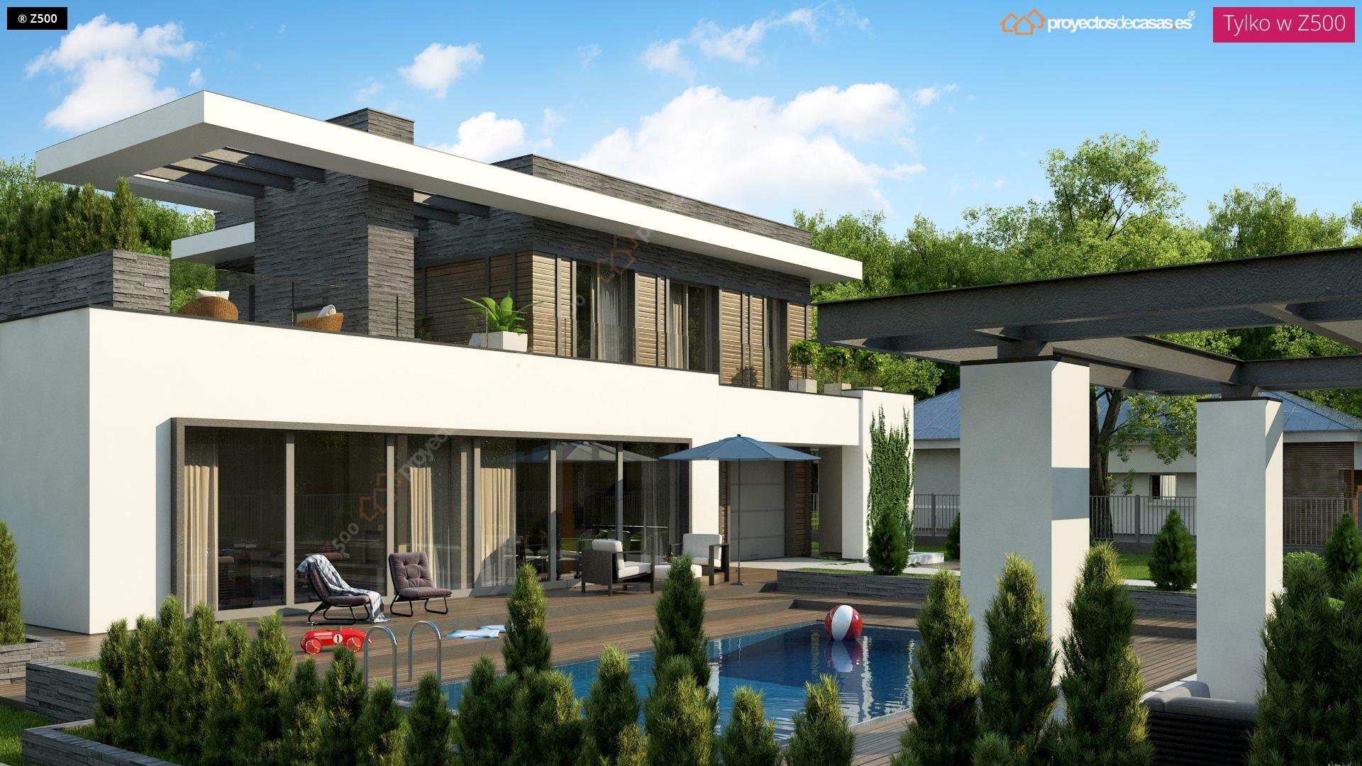 proyectos de casas casa moderna con piscina zaragoza