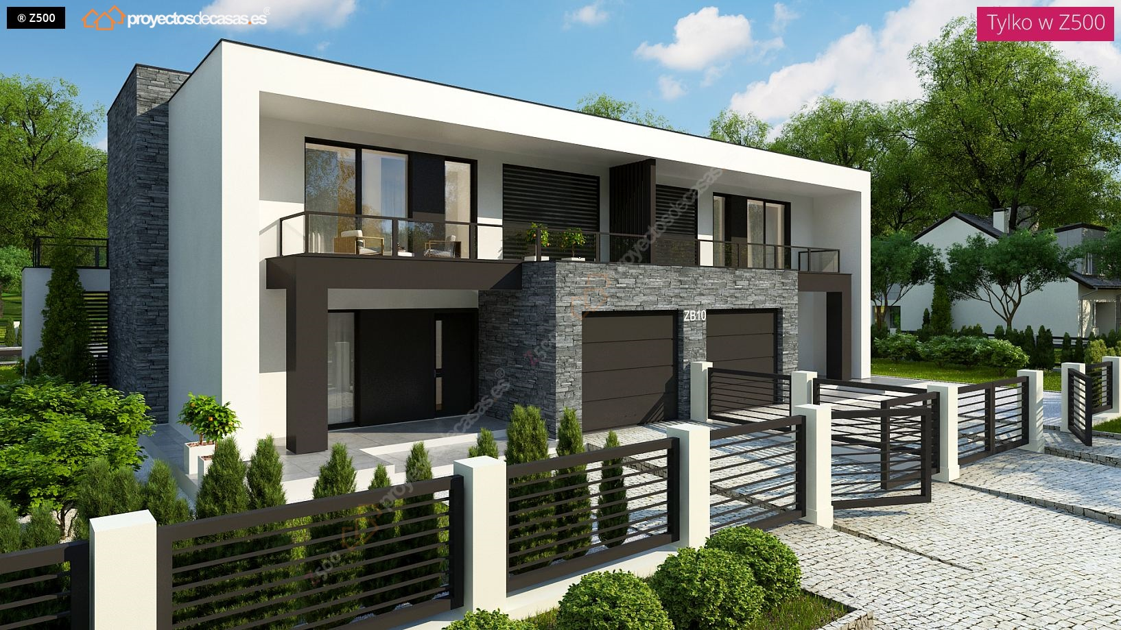 Proyectos de casas carbajosa casa adosada moderna de for Casas modernas en madrid