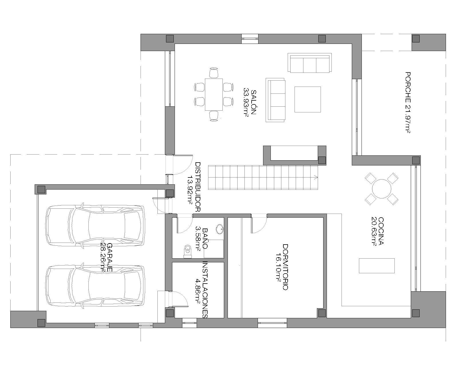 Descubre casa unifamiliar moderna casa lux for Casas minimalistas planta baja