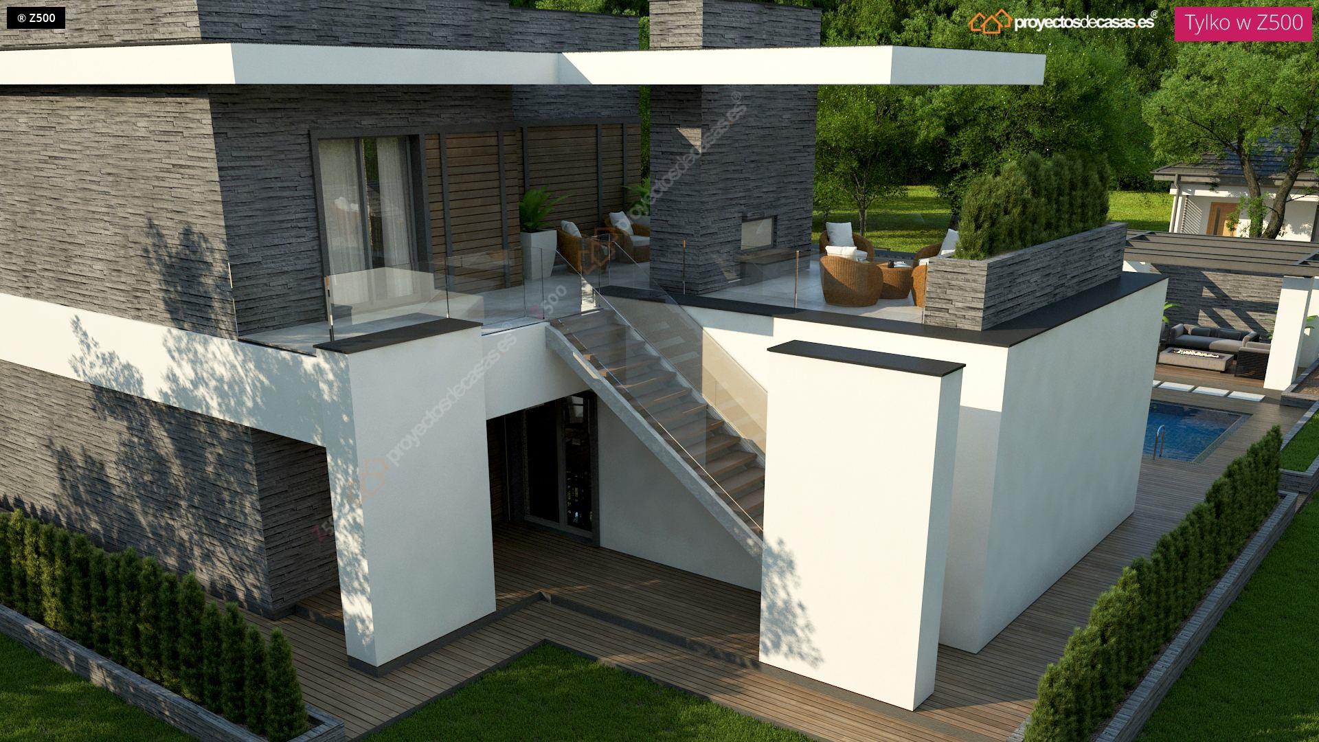 Proyectos de casas casa moderna con piscina zaragoza for Piscinas de zaragoza