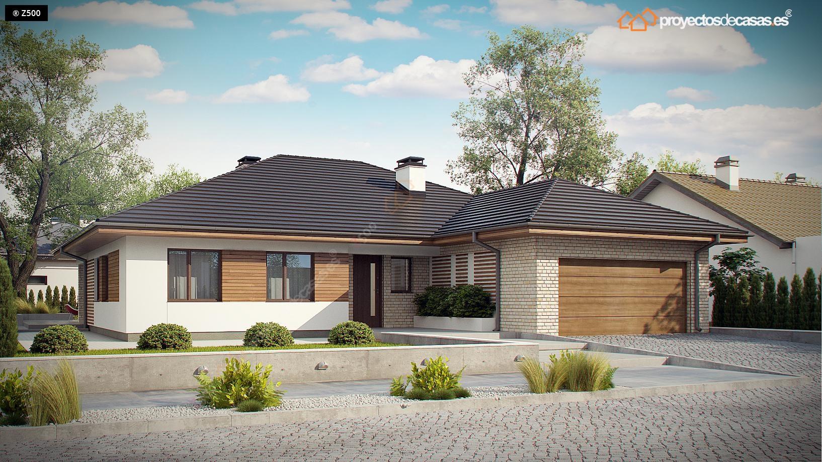 Proyectos de casas casa tradicional proyectosdecasas - Fachadas de casas modernas planta baja ...