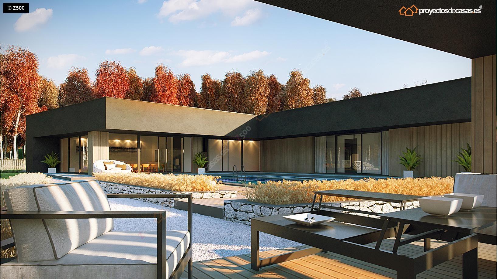 Proyectosdecasas dise amos y construimos casas en toda for Casas modernas de una planta minimalistas