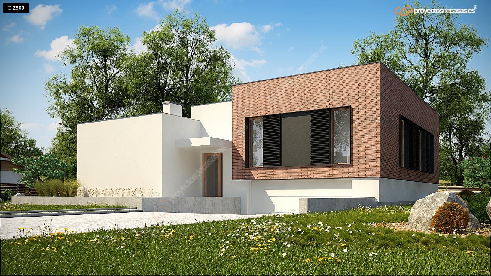 Proyectos de casas casa moderna aldaya con garaje for Proyectos casas modernas