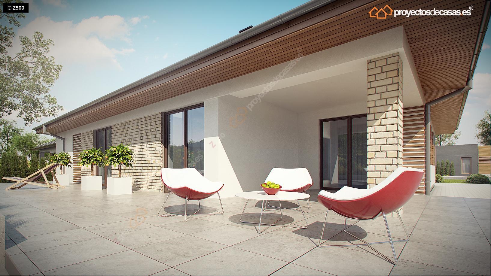 Proyectos de casas casa tradicional proyectosdecasas for Planos de chalets modernos