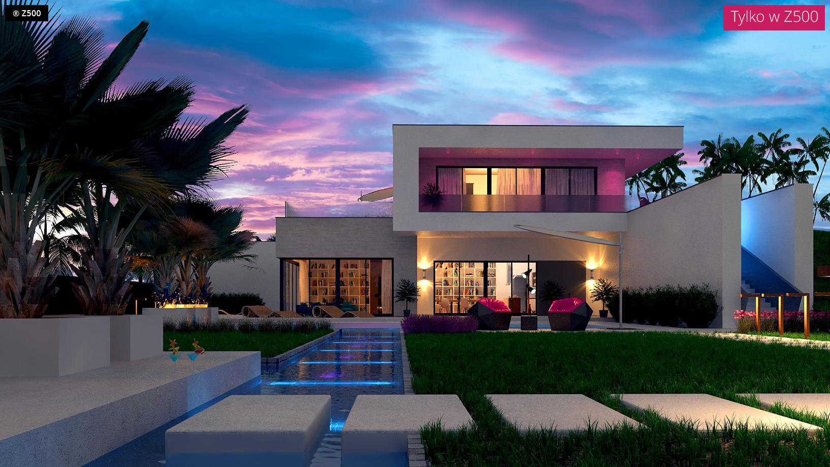 Proyectos de casas casa moderna con piscina for Diseno casa planta baja