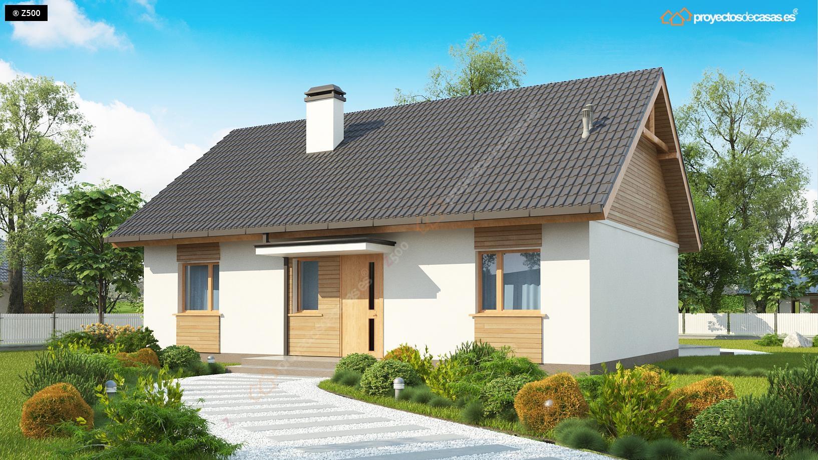 Proyectosdecasas dise amos y construimos casas en toda - Chalet de madera y piedra ...