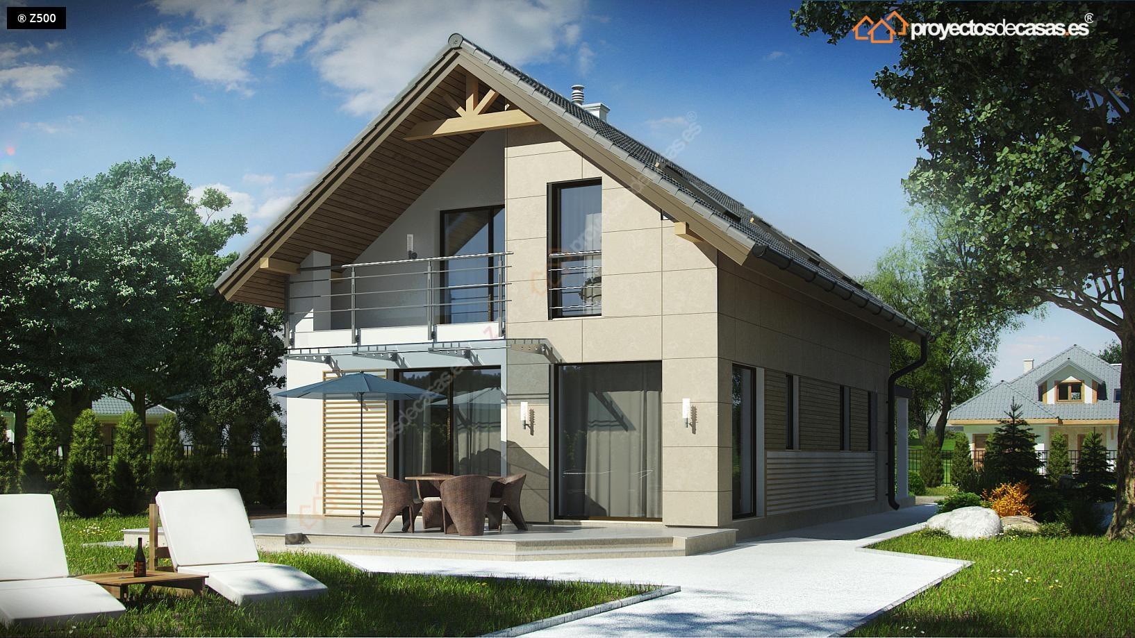 Proyectos de casas casa tradicional proyectosdecasas - Casas americanas espana ...
