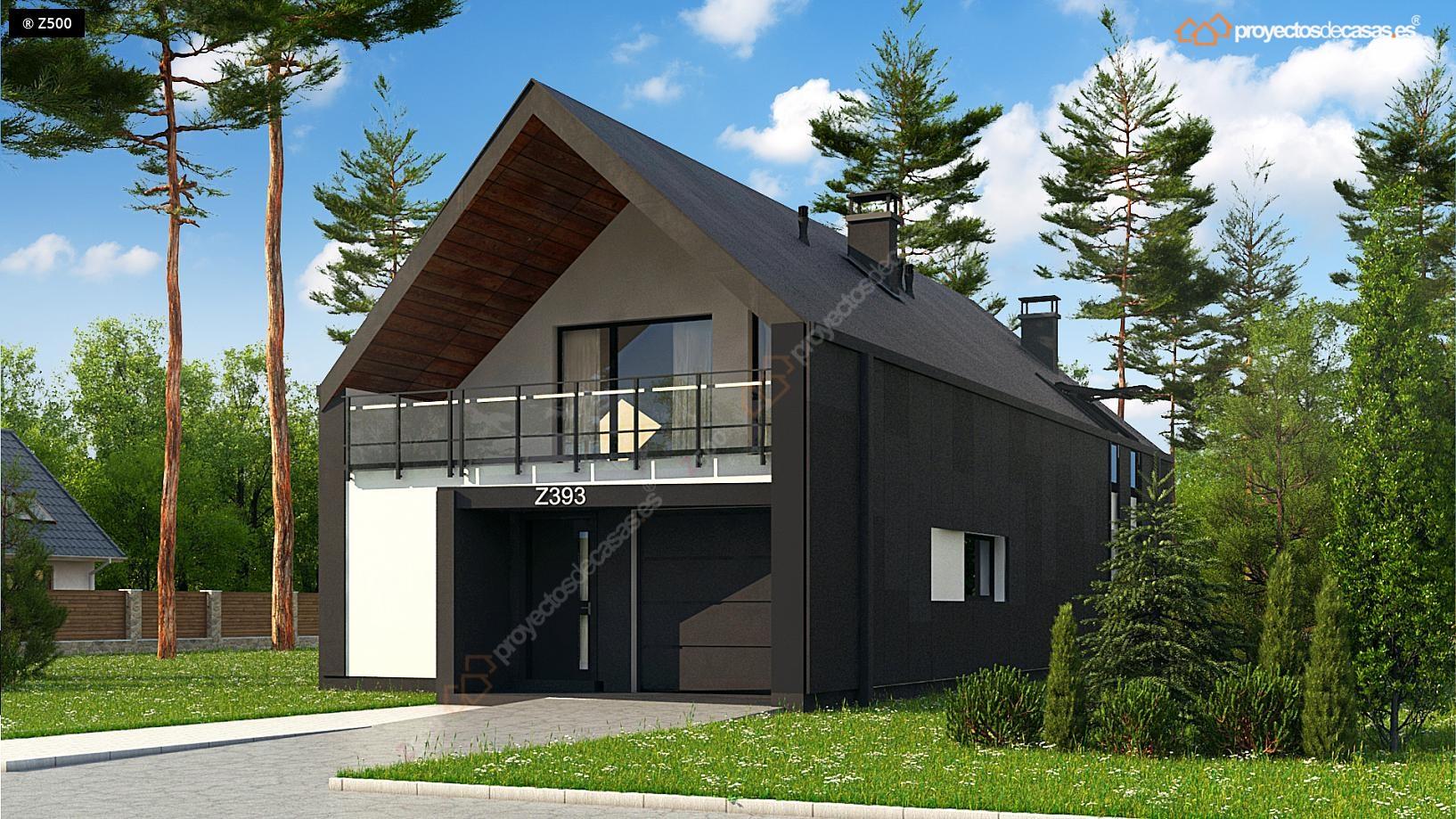proyectos de casas casa moderna con piscina ForCasa Moderna A Dos Aguas