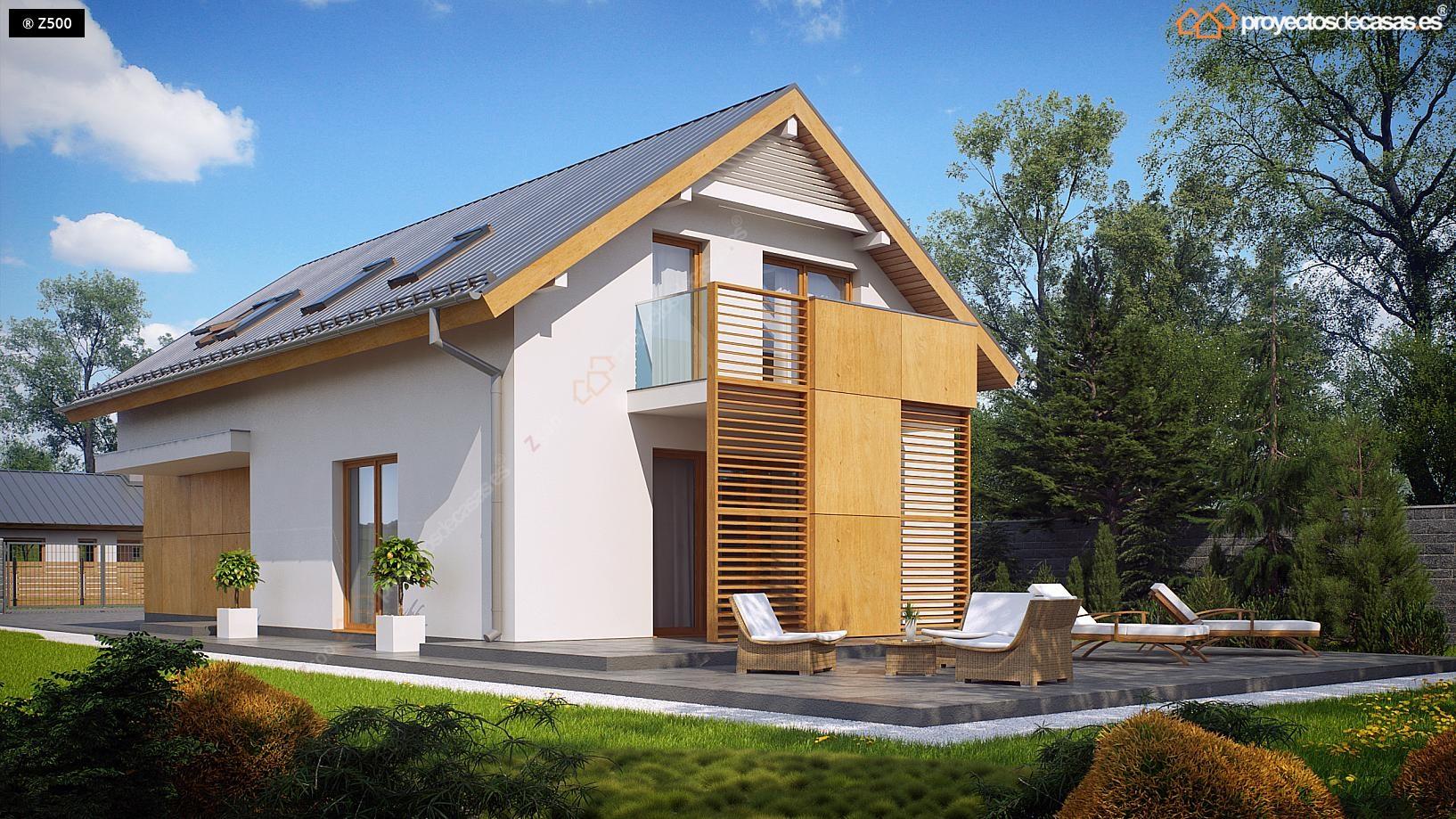 proyectos de casas casa tradicional cubierta a dos aguas