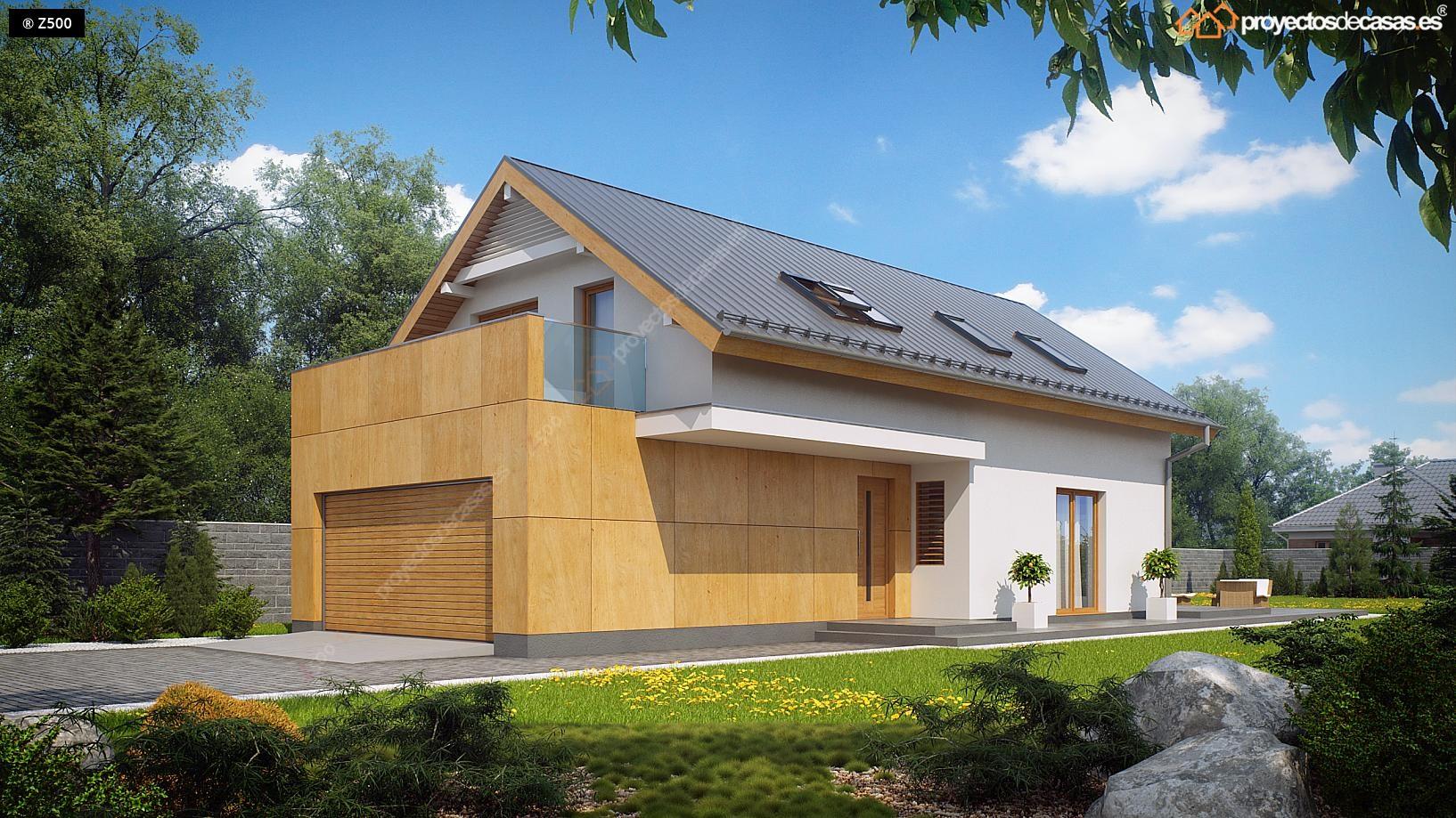 Proyectos de casas casa tradicional cubierta a dos aguas for Cubiertas para casas campestres