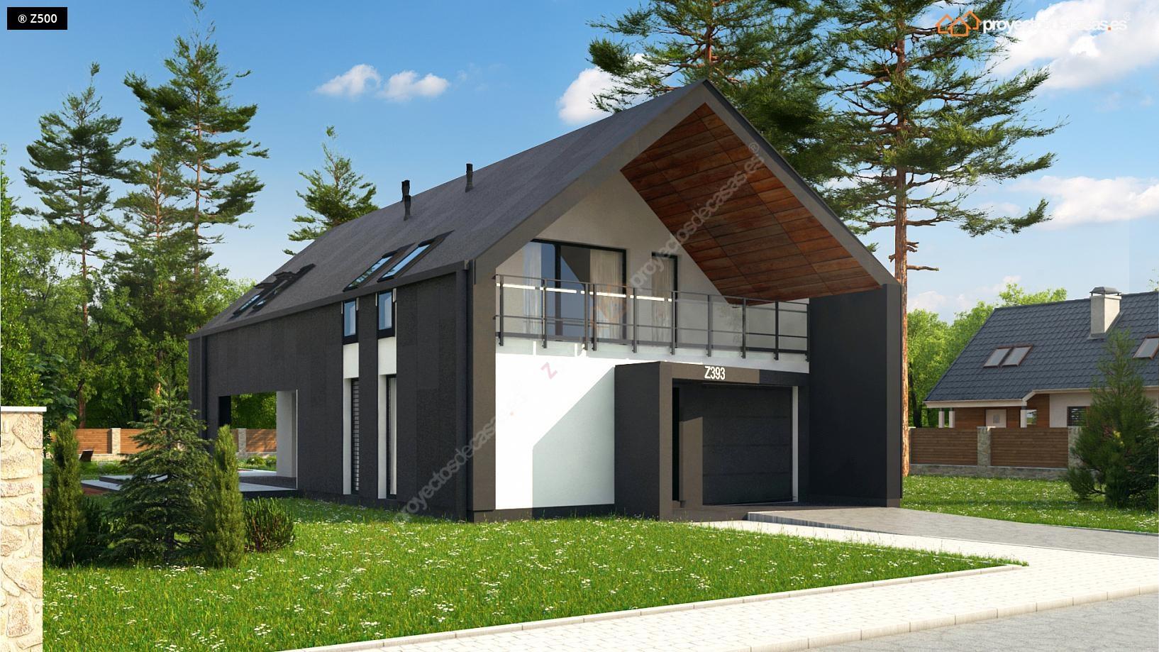 Proyectos de casas casa moderna con piscina for Cubiertas para casas