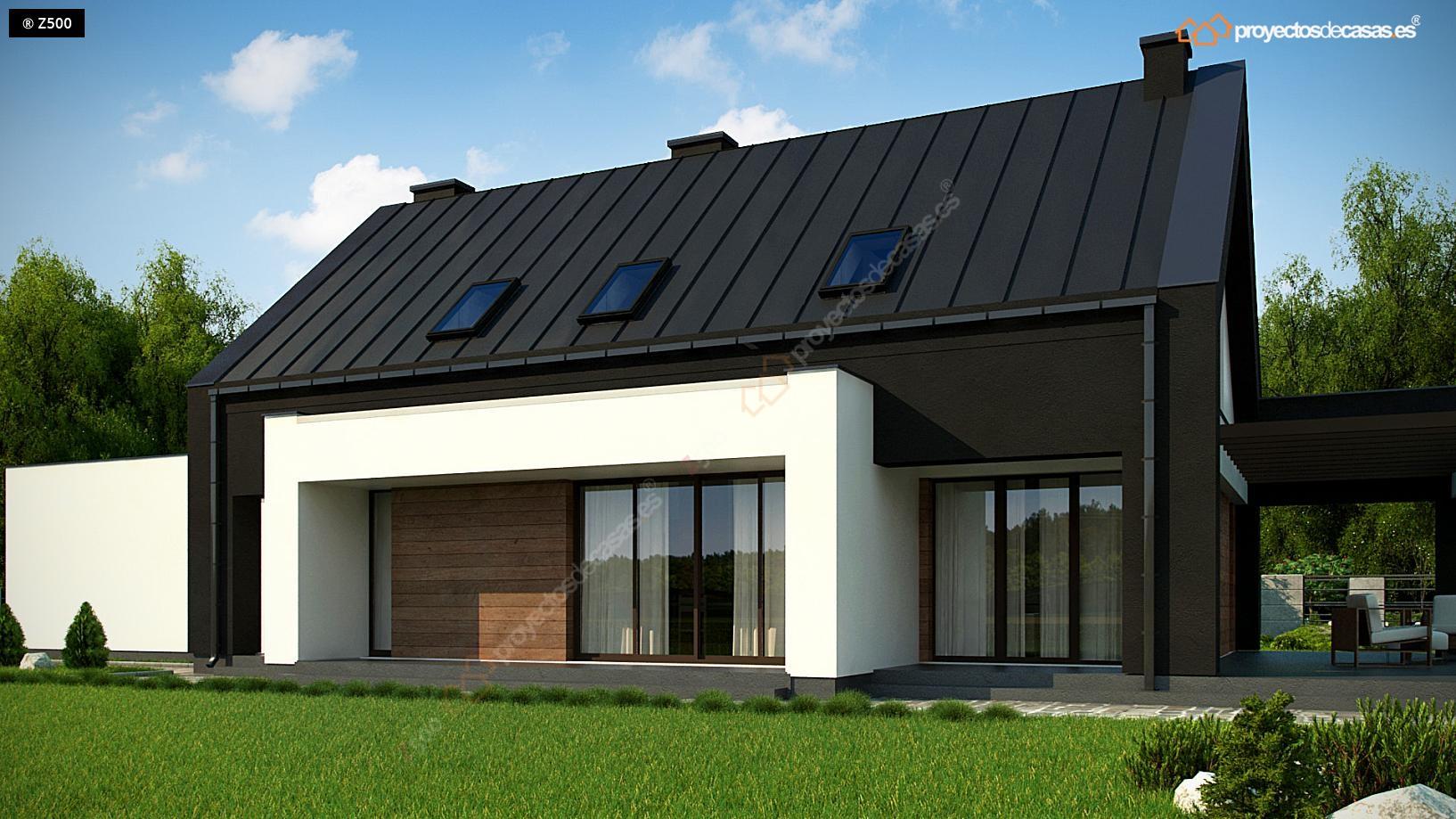 Proyectos de casas casa navacerrada de dise o moderna for Cubiertas para casas