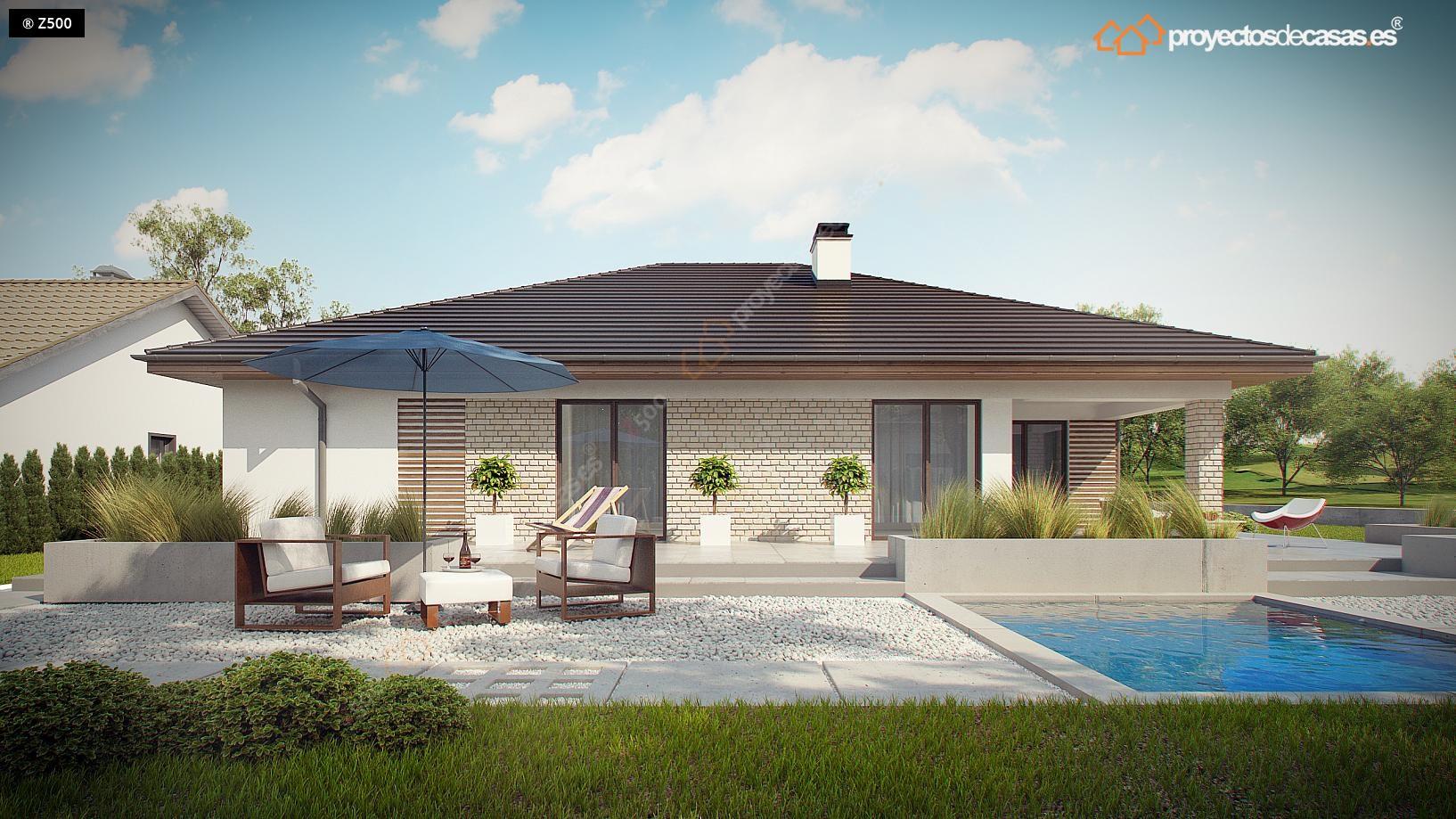 Proyectos de casas casa tradicional proyectosdecasas - Casas planta baja modernas ...