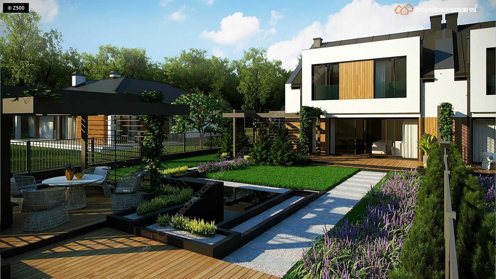 Proyectos de casas casa adosada moderna alcobendas for Proyectos de casas modernas