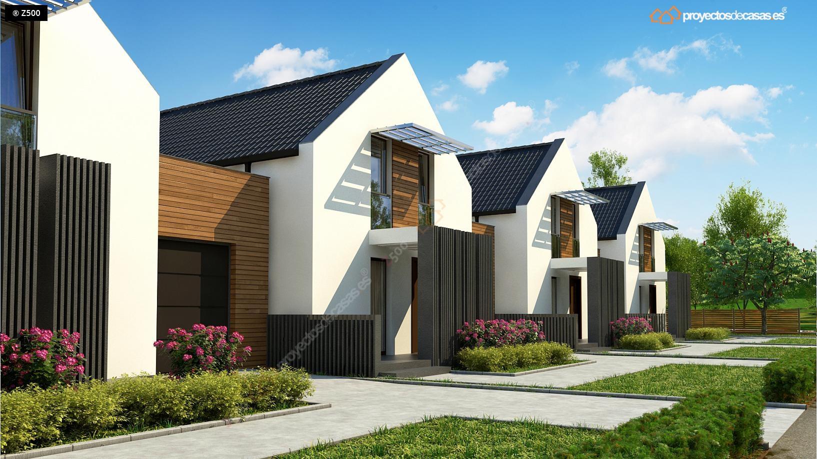 proyectos de casas carbajosa casa adosada moderna de