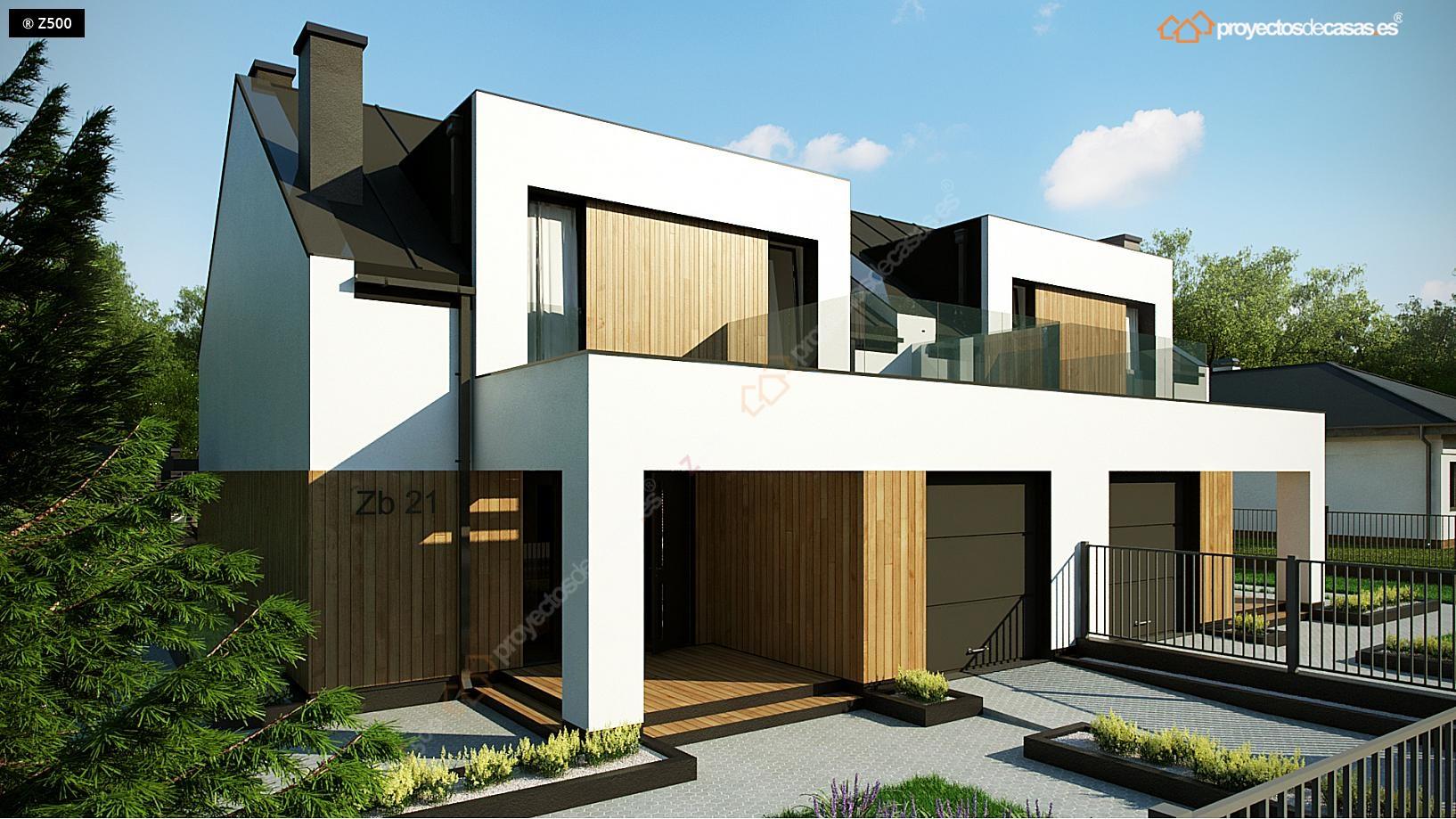 Proyectos de casas carbajosa casa adosada moderna de for Proyectos casas modernas