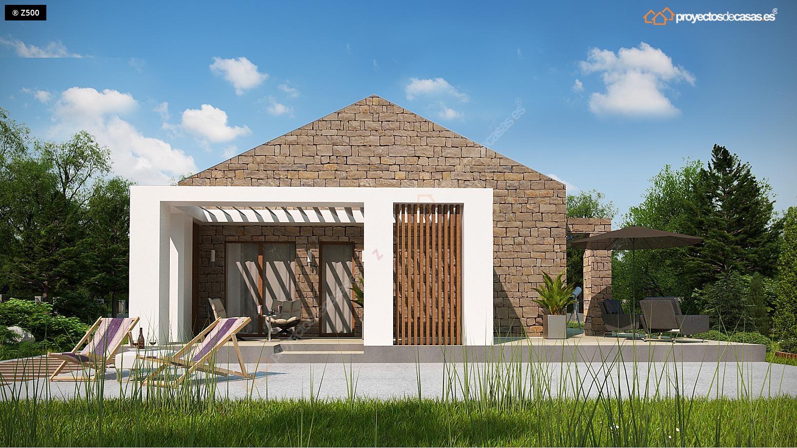 Proyectos De Casas Casa De Campo Con Piedras