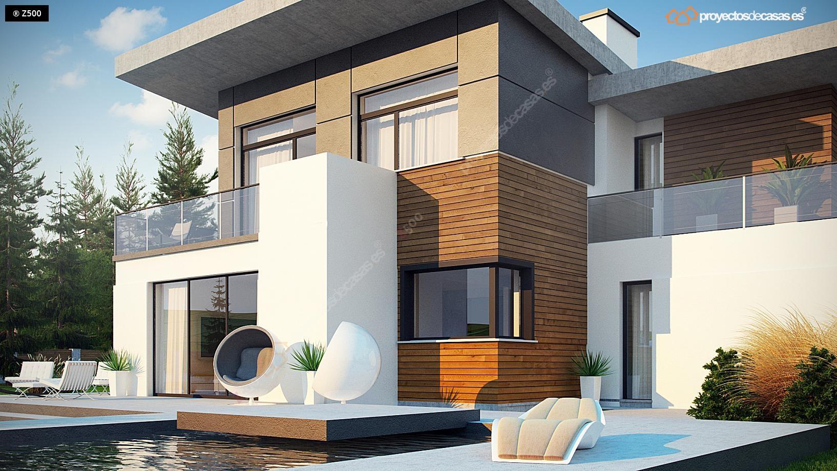 Proyectos de casas casa de lujo con piscina for Casas rurales en badajoz con piscina