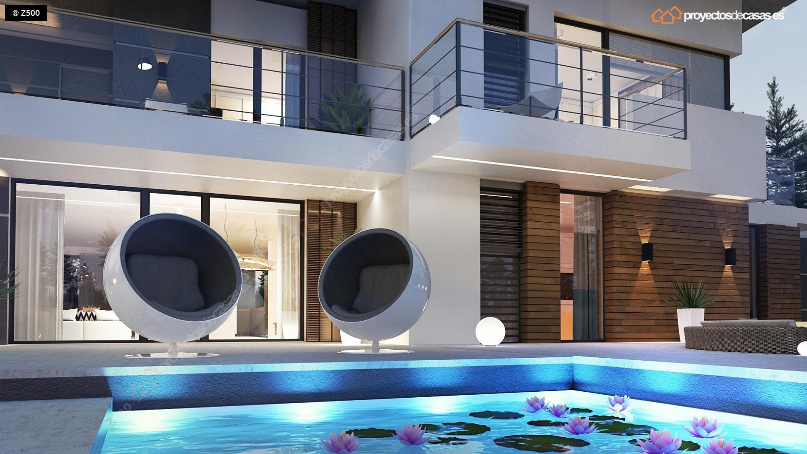 Proyectos de casas casa moderna con piscina proyectosdecasas dise amos y construimos casas - Casas modernas con piscina ...