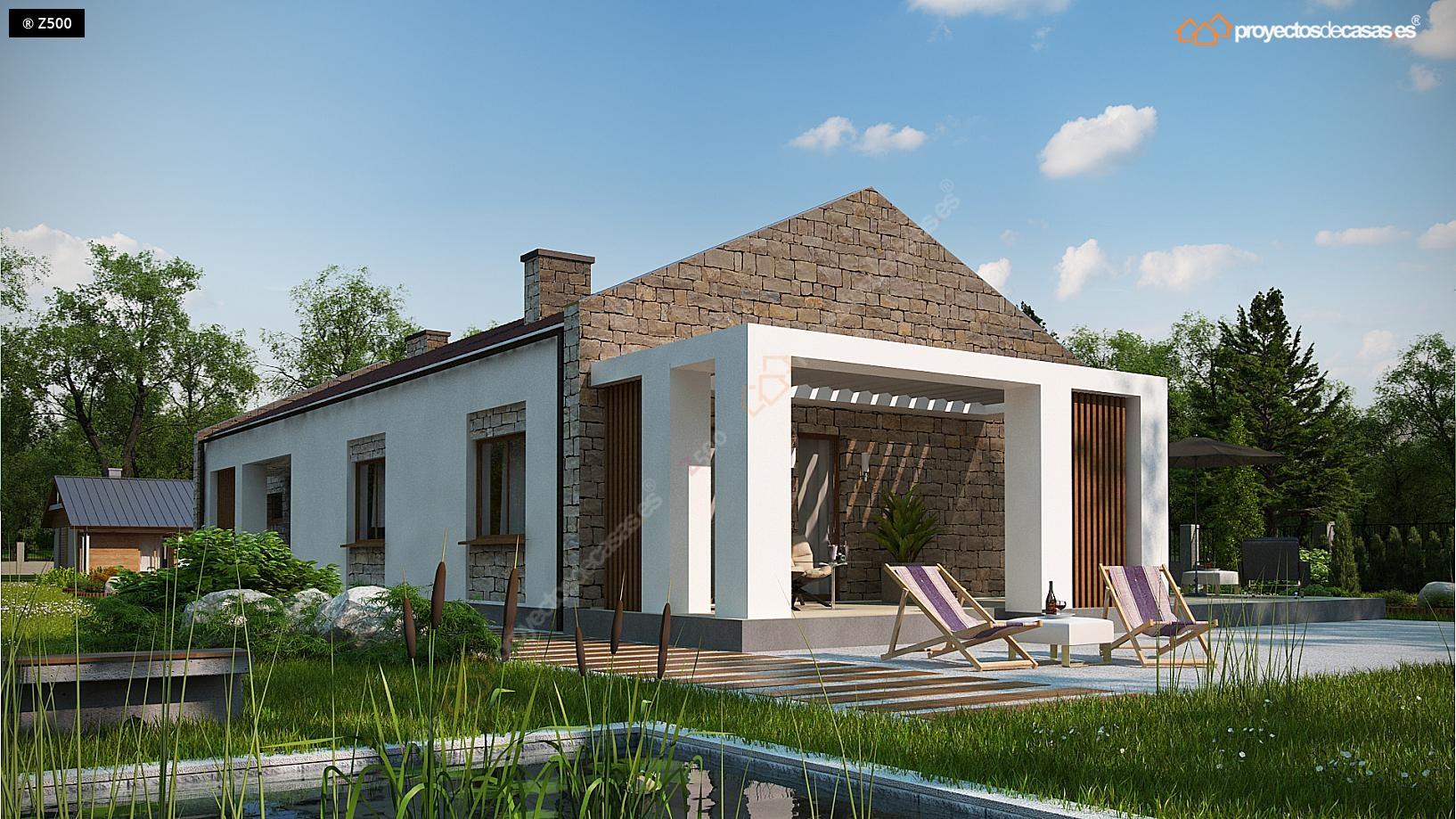 Proyectos de casas casa de campo con piedras for Casas ideas y proyectos