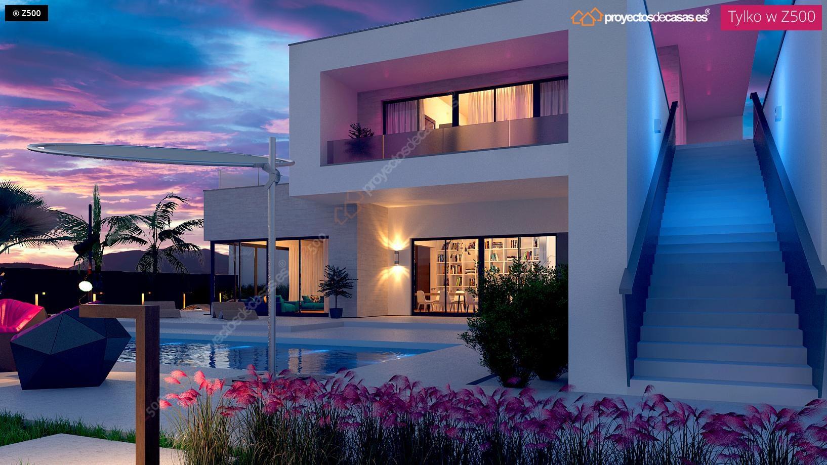 Proyectos de casas casa moderna con piscina for Casa moderna con piscina