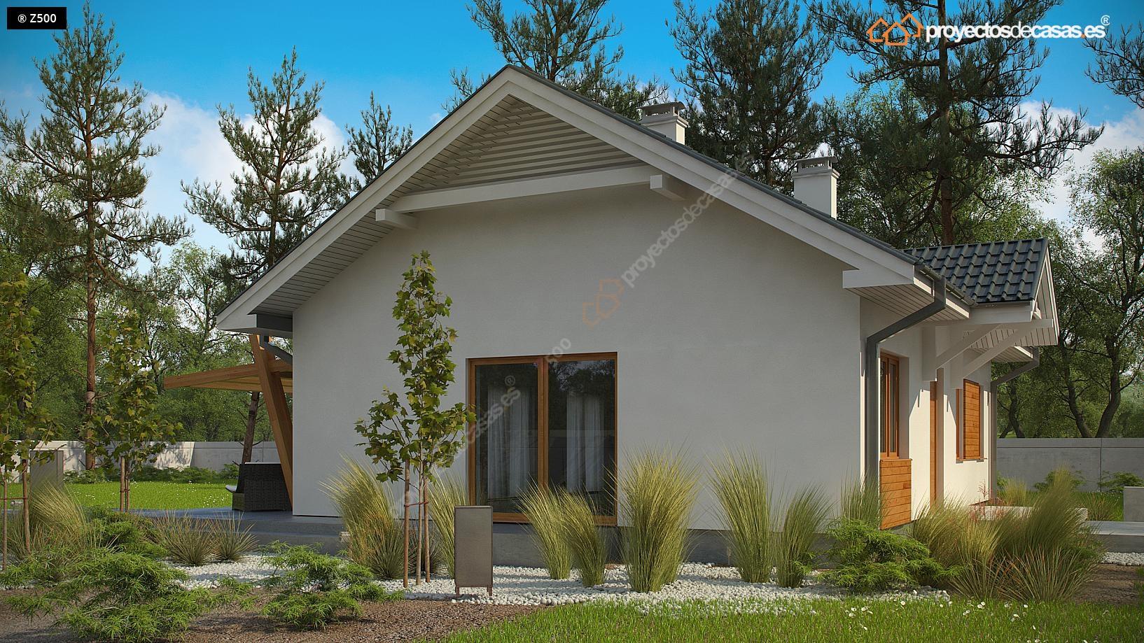 Proyectos de casas casa tradicional proyectosdecasas - Casas de madera pequenas ...