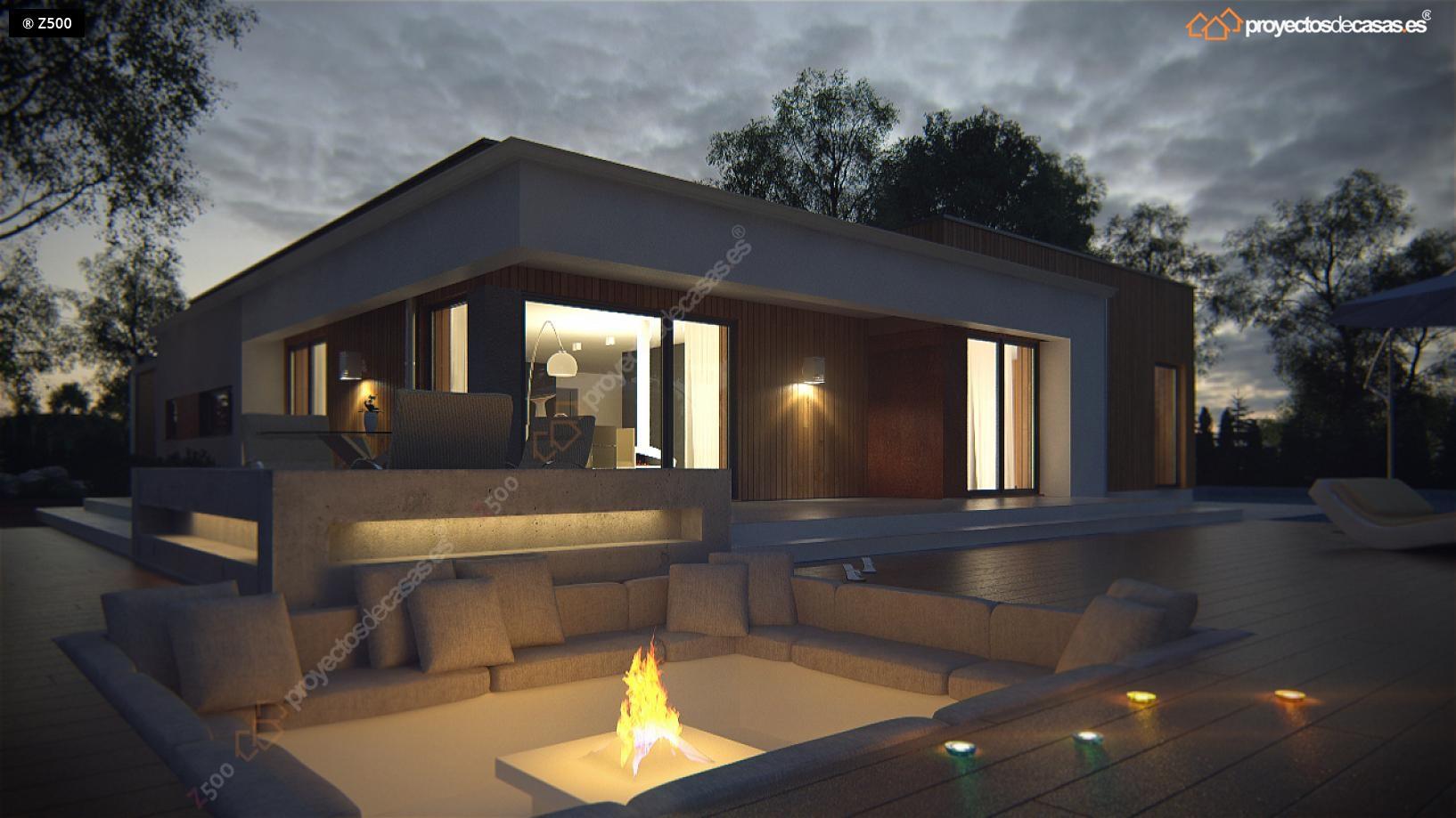 proyectos de casas casa moderna de planta con piscina diseamos y construimos casas en toda espaa
