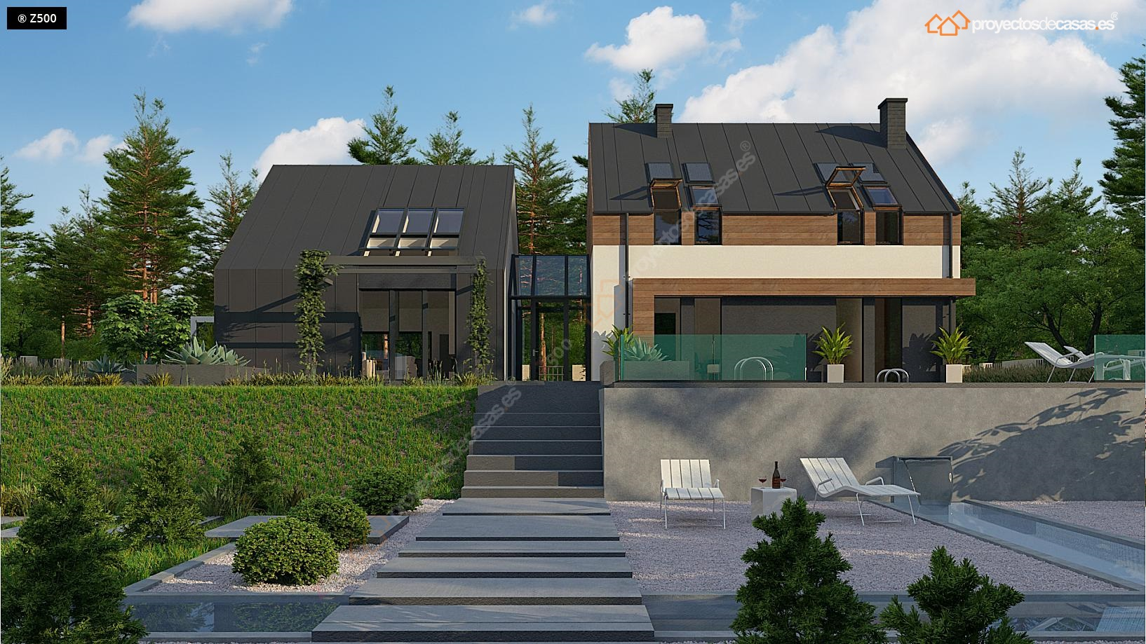 proyectos de casas | casa de diseño original - proyectosdecasas
