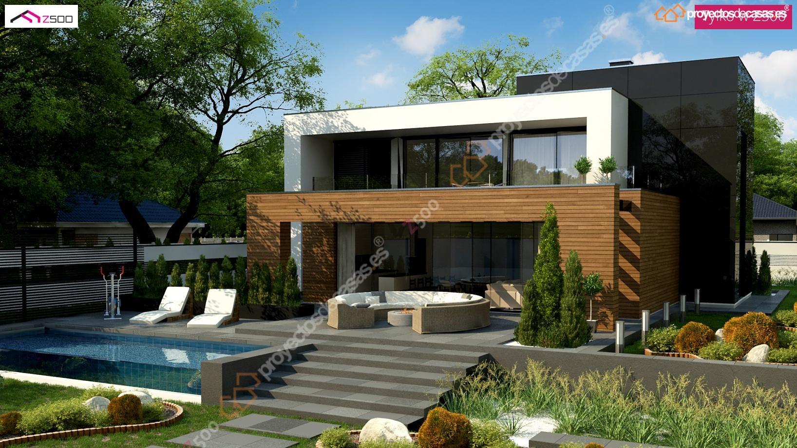 Proyectosdecasas dise amos y construimos casas en toda espa a - Planos de chalets modernos ...