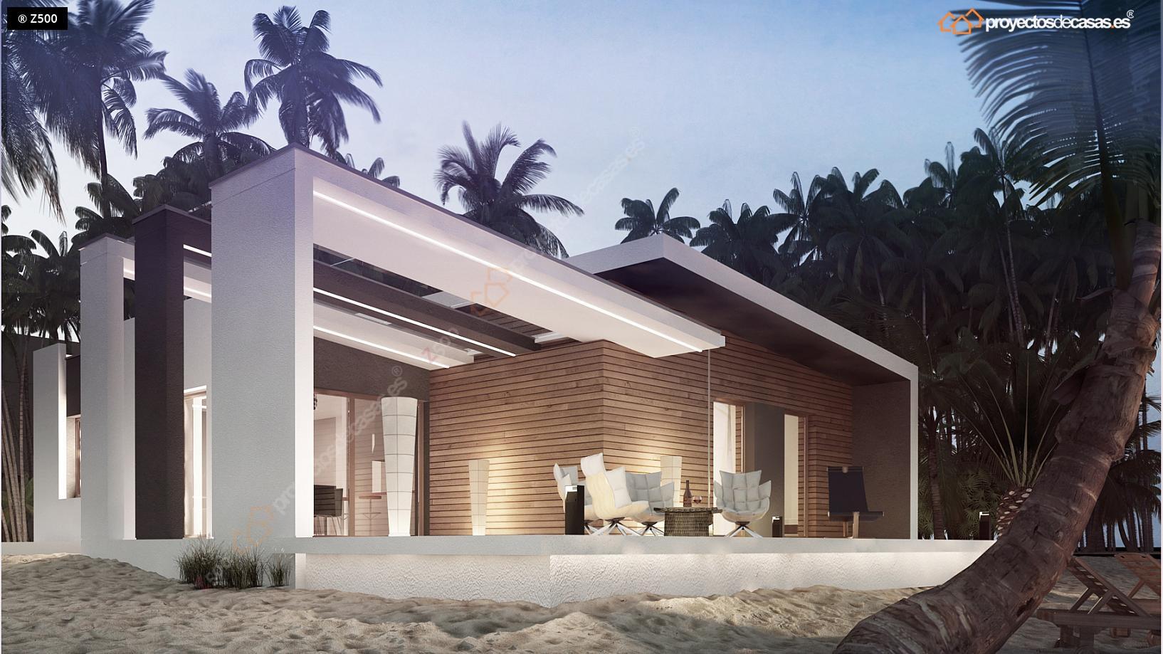 Proyectos de casas casa cadiz moderna de playa - Precio proyecto casa ...