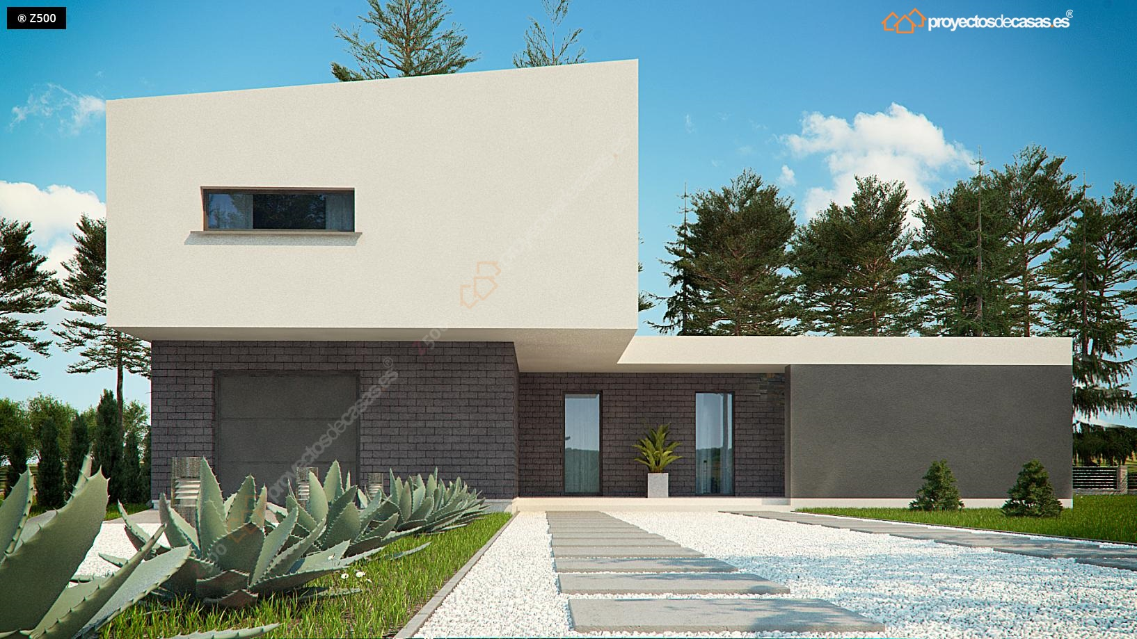 Proyectos de casas casa de dise o moderna - Casas modernas madrid ...