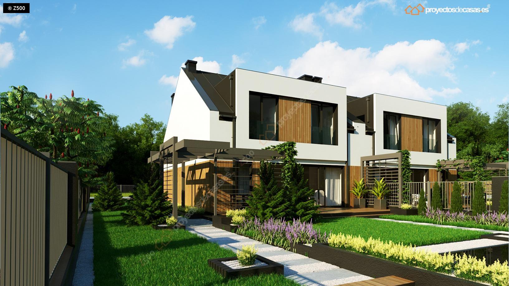 Proyectos de casas casa adosada moderna alcobendas for Proyectos de casas