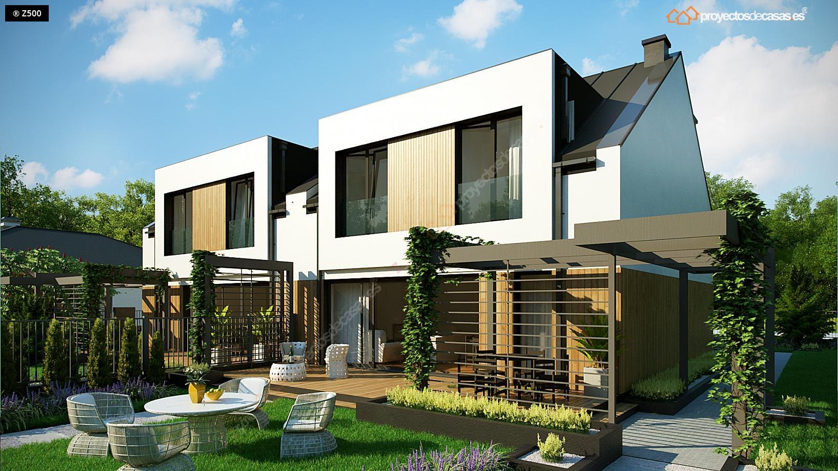 Proyectos De Casas Casa Adosada Moderna Alcobendas