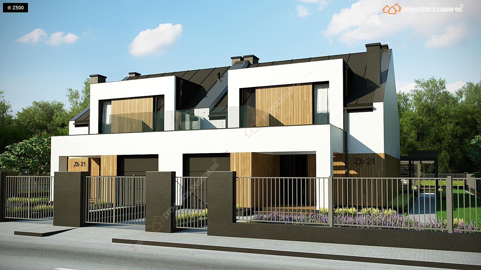 Proyectos de casas casa adosada moderna alcobendas proyectosdecasas dise amos y - Precio proyecto casa 120 m2 ...