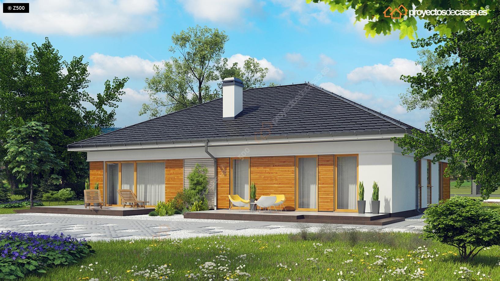 Proyectos de casas casa tradicional proyectosdecasas for Diseno chalet una planta