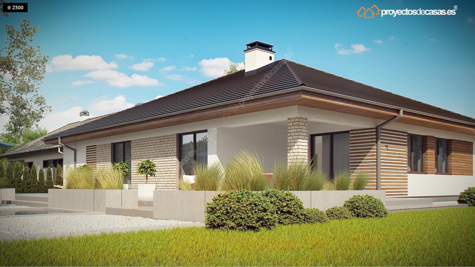 Proyectos de casas casa tradicional proyectosdecasas for Modelos de chalets de una planta