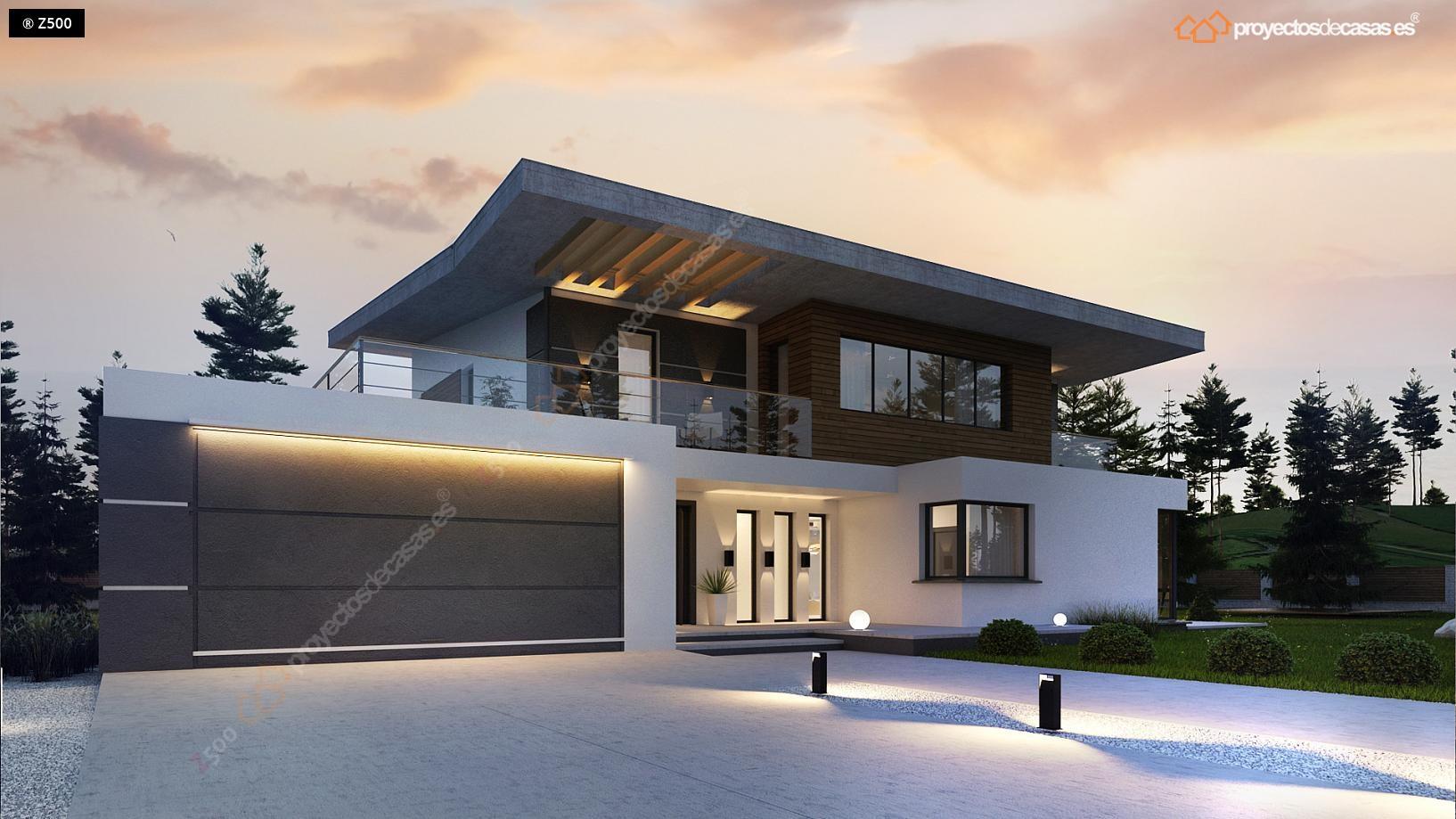 Proyectos de casas casa moderna con piscina - Proyectos de chalets ...