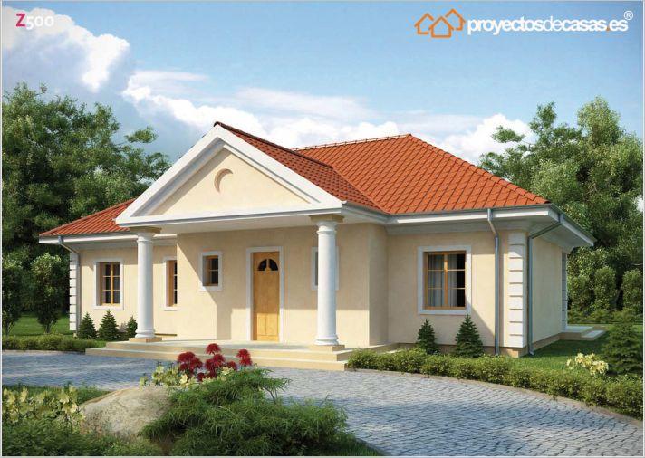 Proyectos de casas casa cl sica proyectosdecasas for Casa clasica techo inclinado procrear