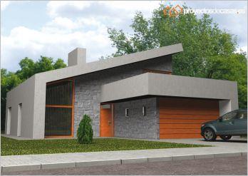 Ficha y planos de casa lux estilo contempor neo - Proyectos casas unifamiliares ...