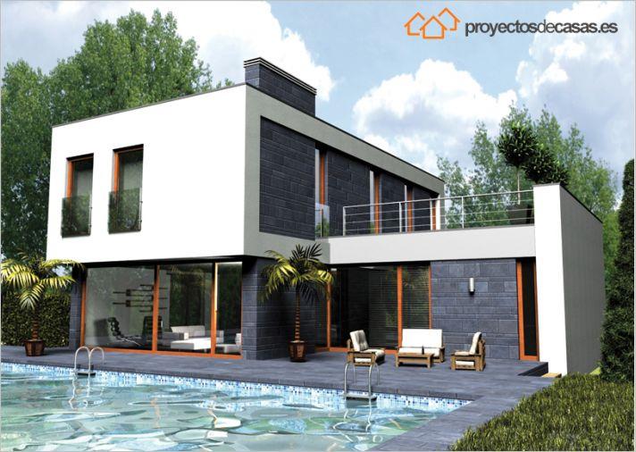Ficha y planos de casa smart estilo contempor neo - Proyecto casa unifamiliar ...