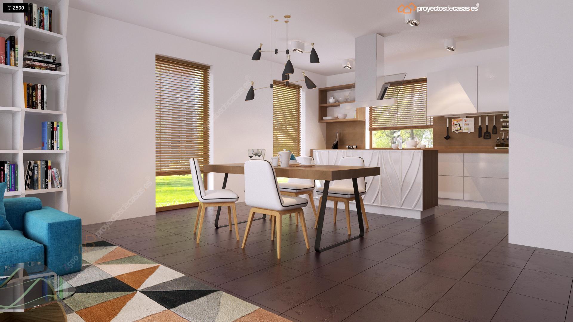 Proyectos de casas casa de dise o de 1 planta con - Diseno cocina pequena ...
