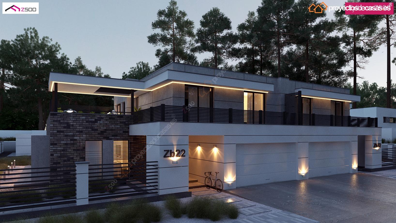 Proyectosdecasas dise amos y construimos casas en toda for Diseno de casas modernas de 2 plantas