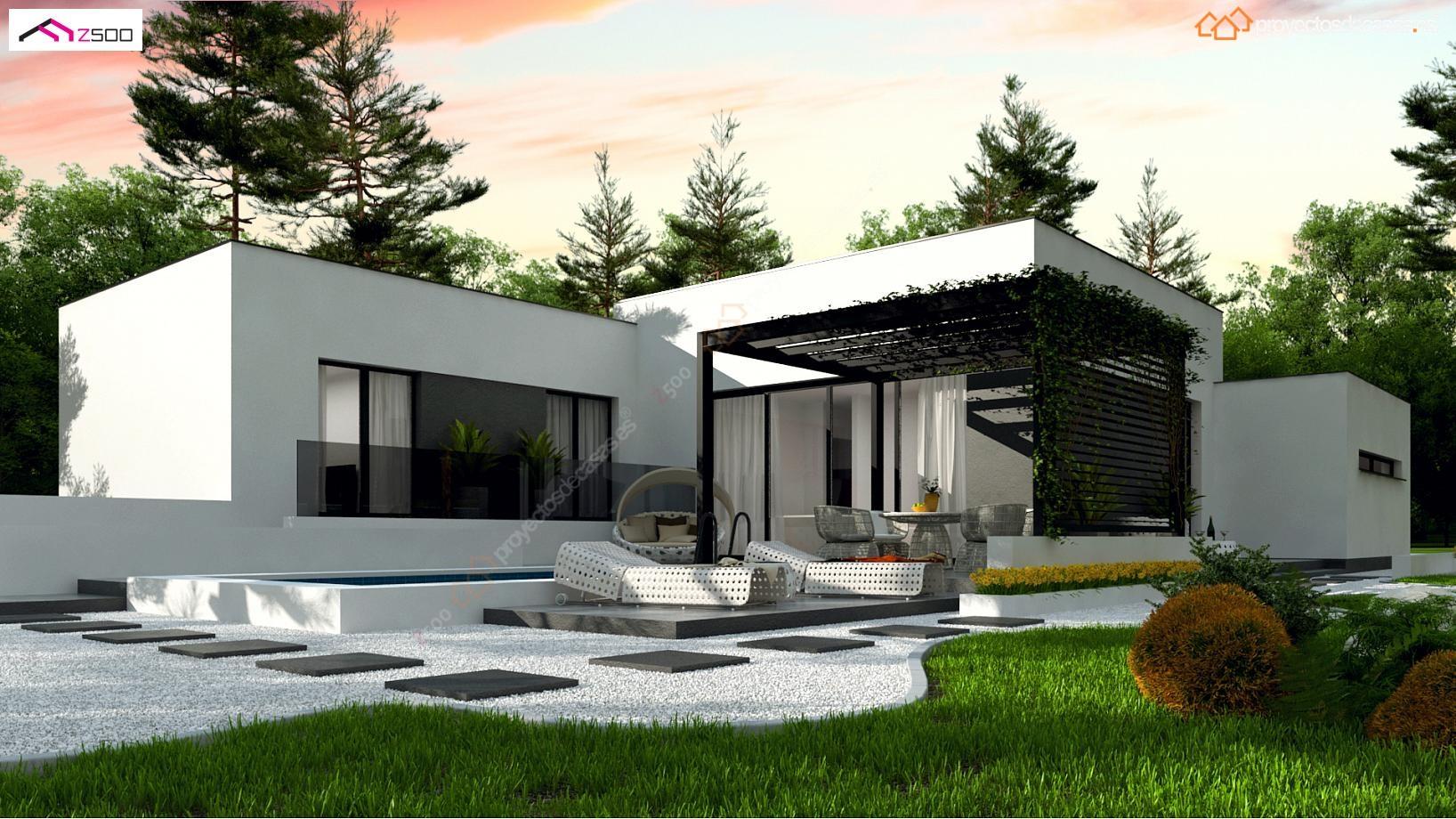 Proyecto de casa minimalista for Casas modernas granada