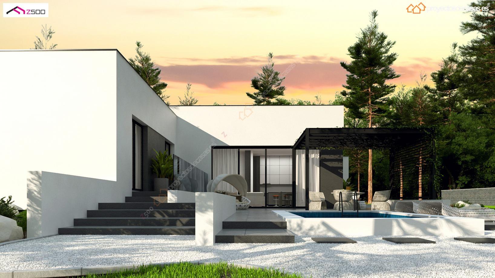 Proyecto de casa minimalista for Casas minimalistas planta baja