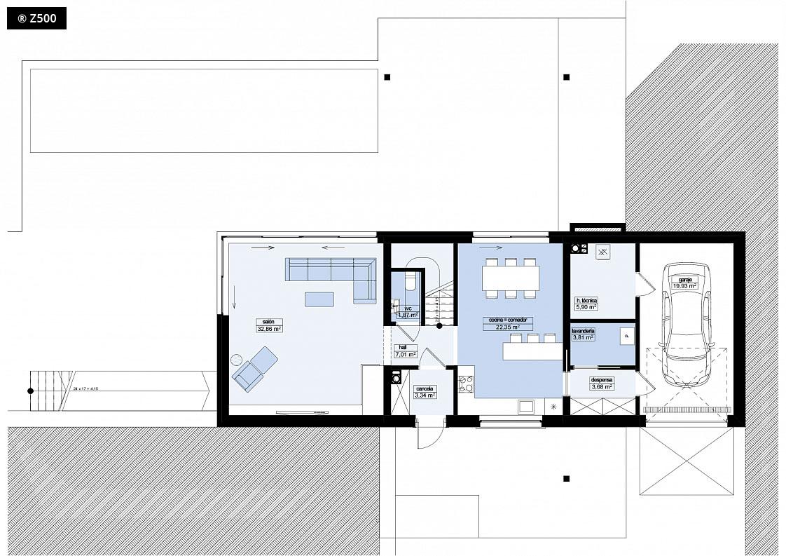 Planos de casas en una planta top with planos de casas en - Casas de una planta ...