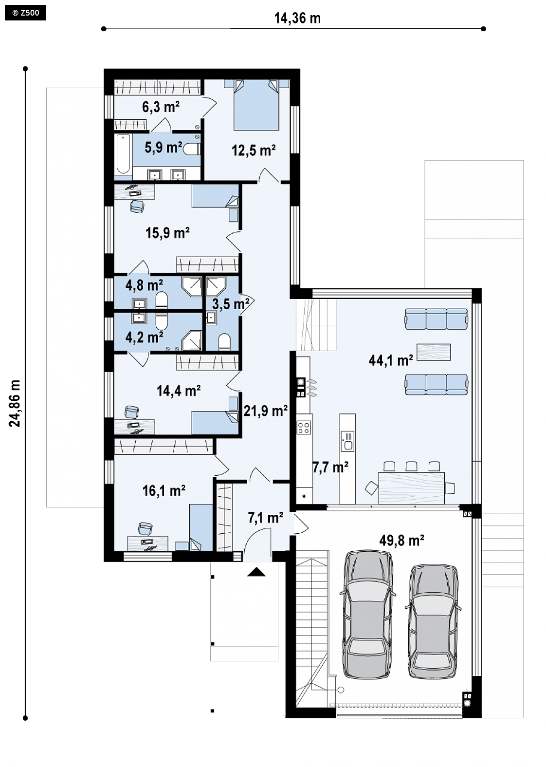 Proyectos De Casas Casa De Lujo Con Piscina Y Garaje A