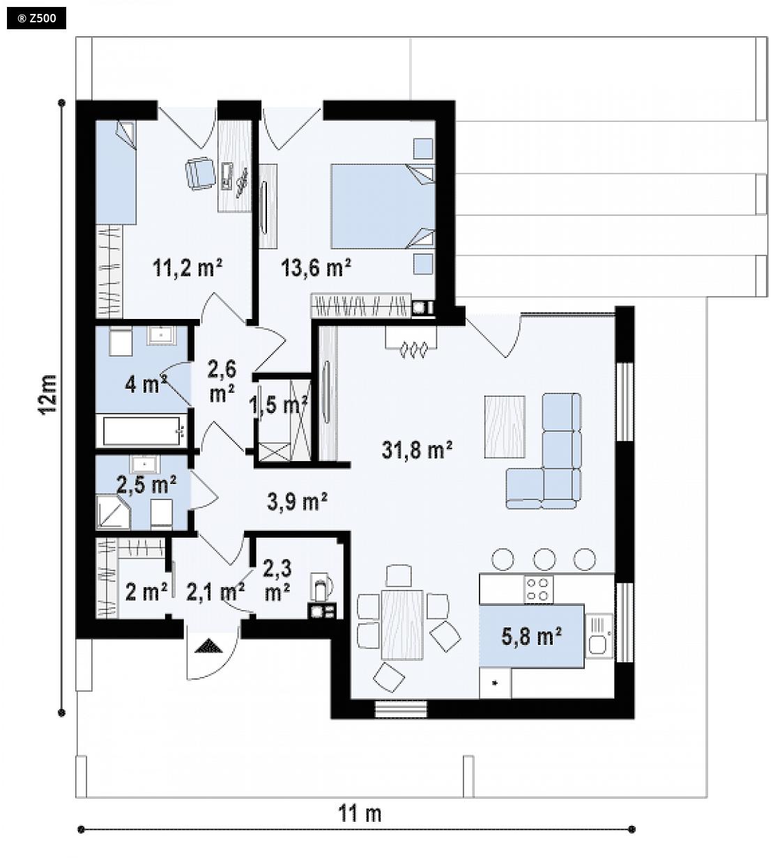 Proyectos de casas casa cadiz moderna de playa - Planos de casas de planta baja ...