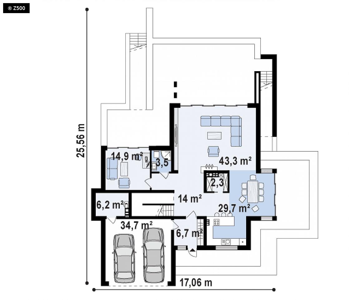 Proyectos de Casas | Casa de Lujo con Piscina y sauna ...
