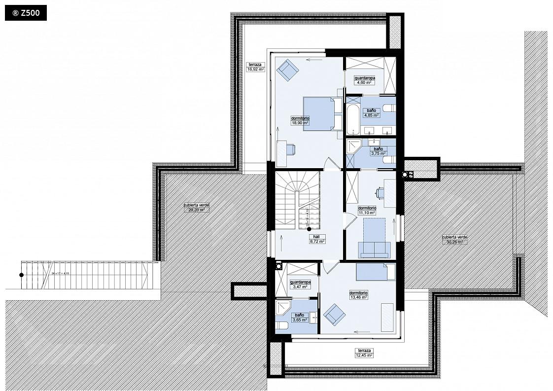 Proyectos de casas casa coru a de dise o moderna proyectosdecasas dise amos y construimos - Planos de casas de planta baja ...